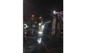 یک مخزن زمینی سوخت در جایگاه بنزین منفجر شد