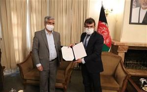 امضای دفتر یادبود قربانیان دانشگاه کابل از سوی انجمن اسلامی مدرسین
