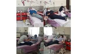 اهدای خون توسط مدیریت آموزش وپرورش بیرجند