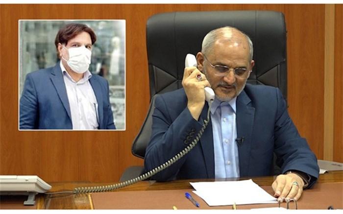 گفتوگوی تلفنی وزیر آموزش و پرورش با معلم خیر خوزستانی