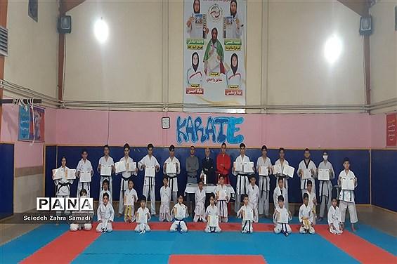 برگزاری دوره آموزشی تکنیکی کاراته در خانه کاراته ملارد