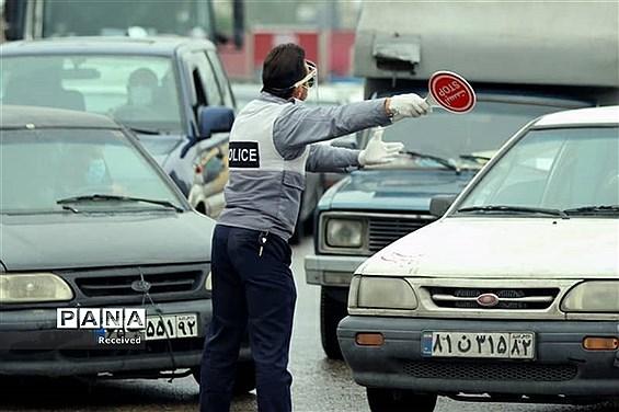 اعمال محدودیت و ممنوعیتهای ترافیکی کرونایی در مازندران
