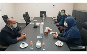 دیدار معاون برنامهریزی سازمان نوسازی مدارس با اکبر ابراهیمی