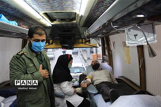 اهدای خون در روستای سید محله ساری