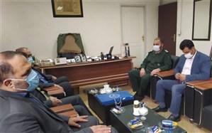 دیدار مدیر آموزش و پرورش  ناحیه دو شهر ری با فرمانده سپاه عبدالعظیم علیه السلام