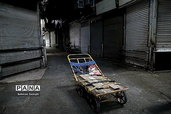 بازار تهران در قرنطینه