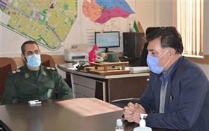 دیدار مدیرآموزش و پرورش  قوچان با فرمانده سپاه ناحیه مقاومت بسیج شهرستان