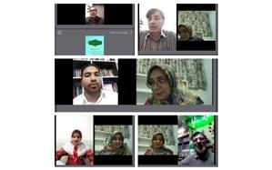 برگزاری شب شعر مجازی  بسیج مدرسه عشق  در زبرخان