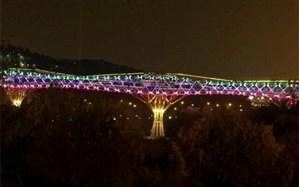 پل طبیعت به رنگ پرچم ایران درآمد