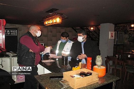 گشت شبانه تیم بازرسی ستاد کرونا شهرستان اسلامشهر از مراکز گروه چهارم شغلی