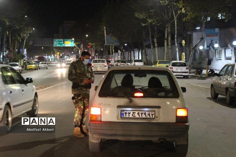 کنترل ورود خودروهای غیربومی در ورودیهای شهر ساری