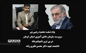 پیام تسلیت رئیس سازمان دانش آموزی استان کرمان در پی ترور شهید محسن فخری زاده