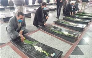 گرامیداشت یاد و خاطره شهدای ملاردی در هفته بسیج