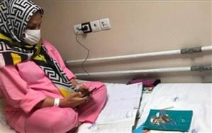 تدریس روی تخت بیمارستان؛ معلم بوشهری درس ایثار می دهد