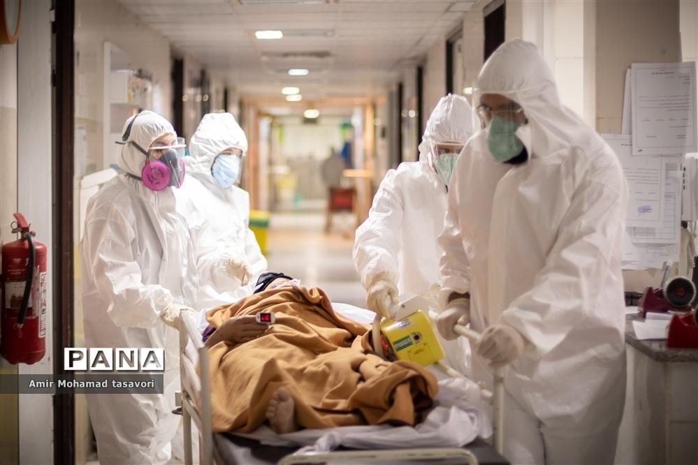 جهاد مدافعان سلامت  در بخش ویژه  بیماران کرونای بیمارستان شهدای شهرستان نی ریز