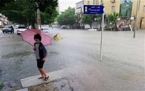 بارش شدید باران باعث آبگرفتگی خیابان های بوشهر شد
