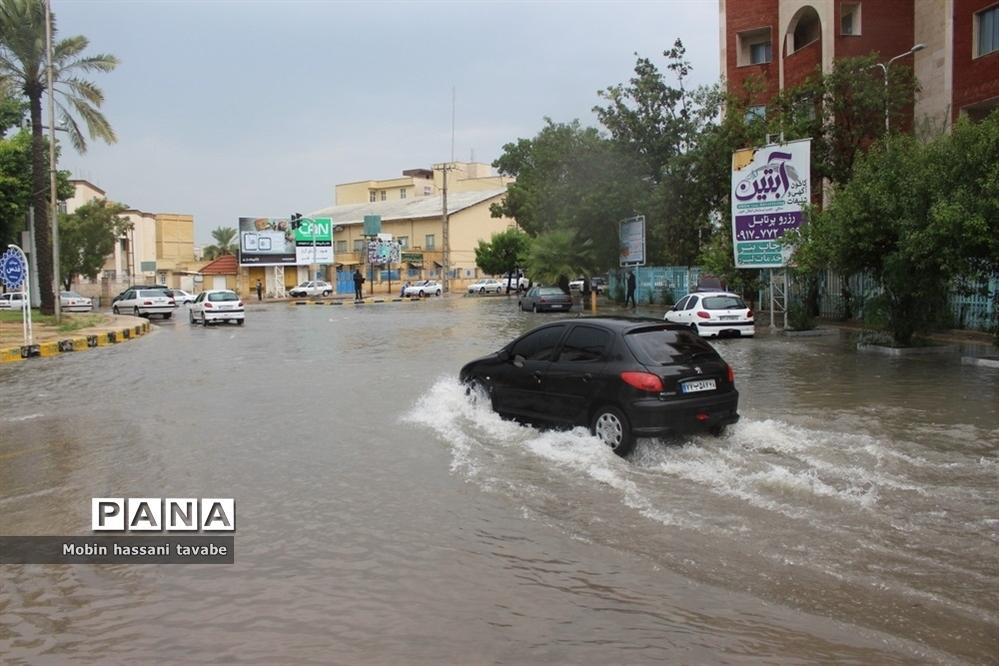 بارش شدید باران در بوشهر