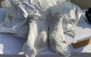 کشف یک لباس عروس آغشته به ماده مخدر شیشه + تصویر