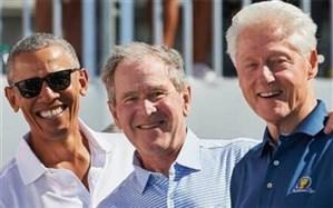 سه رئیسجمهور سابق آمریکا مقابل دوربین واکسن کرونا میزنند