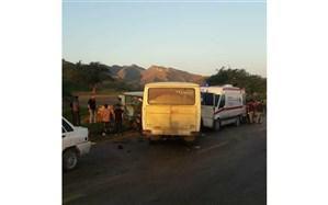 تصادف زنجیره ای در جاده لالی به مسجدسلیمان بیش از 30 مصدوم برجا گذاشت