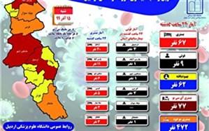 ۱۱۰۰ جان باخته کرونا در استان اردبیل