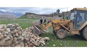 خلع ید۵۵۰۰متر مربع از اراضی ملی در مناطق روستایی شهرستان لالی