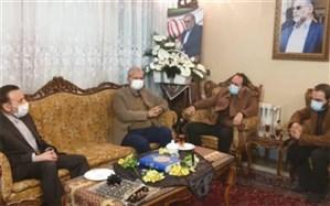 حضور واعظی و ربیعی به نمایندگی از رئیسجمهوری در منزل شهید فخریزاده