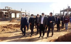 استاندار مازندران از مجتمع مسکونی در حال ساخت مسجد سلیمان بازدید کرد