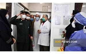 ادای احترام نظامی یک مقام نظامی به پرستاران بیمارستان پورسینا رشت ا