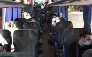 کنترل سلامت مسافران اتوبوسها از نظر ابتلا به کرونا