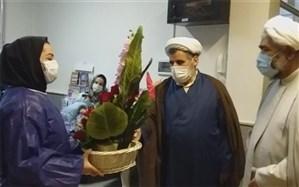 تجلیل از مدافعان سلامت در شهر قدس به مناسبت روز پرستار