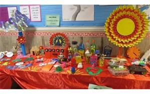 برگزاری نمایشگاه دستاوردهای بازیافتی در مدارس ابتدایی ملارد