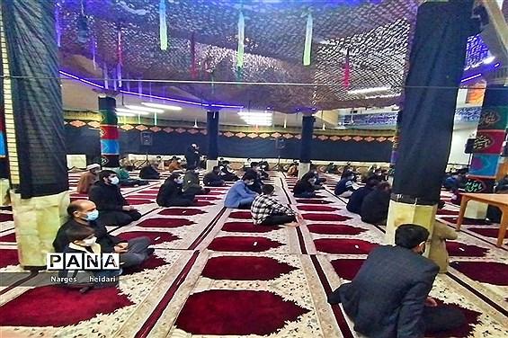 مراسم دهه اول ایام فاطمیه در شهرستان امیدیه