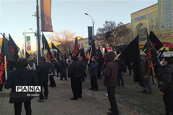 عزاداری ایام فاطمیه با رعایت اصول بهداشتی در زنجان