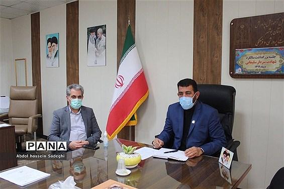 جلسه بزرگداشت سالگرد شهادت سردار سلیمانی در آموزش و پرورش استان بوشهر