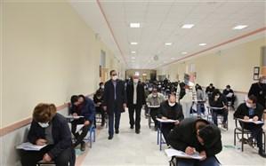 برگزاری آزمون استخدامی با رعایت پروتکل های بهداشتی در ۴ شهر استان اردبیل