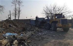 رفع تصرف حدود یک هکتار از بستر رودخانه کن در محدوده اسلامشهر