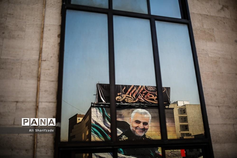رونمایی از دیوار نگاره سردار شهید قاسم سلیمانی