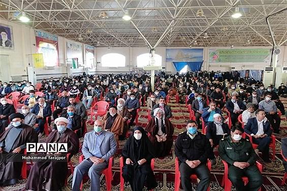 برگزاری مراسم سالگرد شهادت سردار سلیمانی در شهرستان کارون