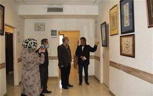 نمایشگاه خوشنویسی سردار قهرمان در ملارد افتتاح شد