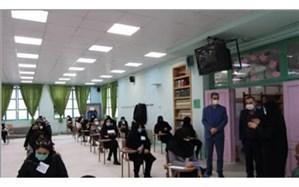 بازدید مدیر آموزش و پرورش منطقه ۱۵ از حوزه های امتحانات نهایی بزرگسالان