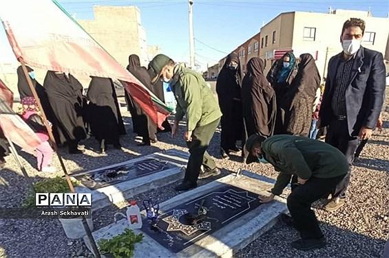 برگزاری مراسم سالگردشهید حاج قاسم سلیمانی در روستای چهکند ربیرجند