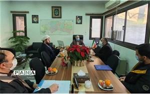 دیدار صمیمانه فرمانده سپاه جماران با مدیر آموزش و پرورش منطقه1
