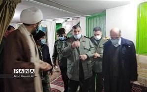 بازدید مسئول قرارگاه محرومیت زدایی سپاه از پروژه فاطمیه سردار شهید حاج قاسم سلیمانی  در شیروان