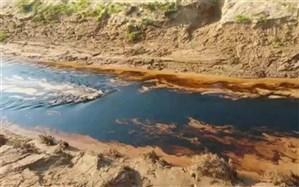 نشت نفت گچساران در رودخانه « بهون » گناوه