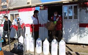 ارسال تجهیزات مورد نیاز برای نقاهتگاه بیماران کرونایی توسط هلال احمر زنجان