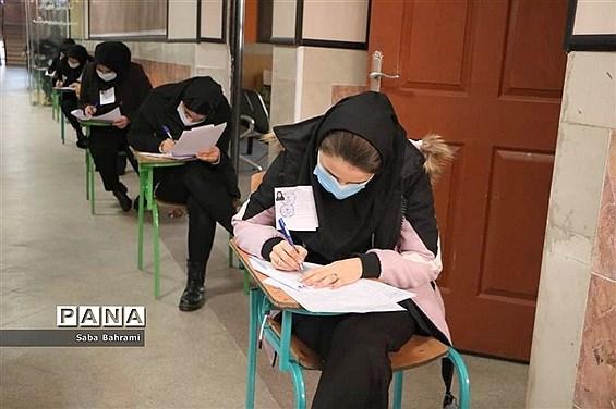 بازدید از حوزه امتحانات در شهرستان قدس