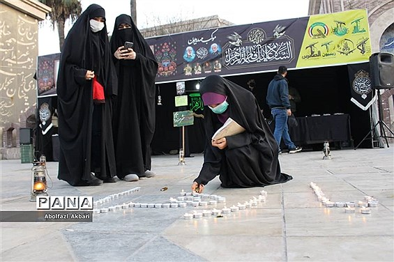 برپایی موکب فرهنگی مهدویون  به مناسب شهادت حضرت زهرا (س)