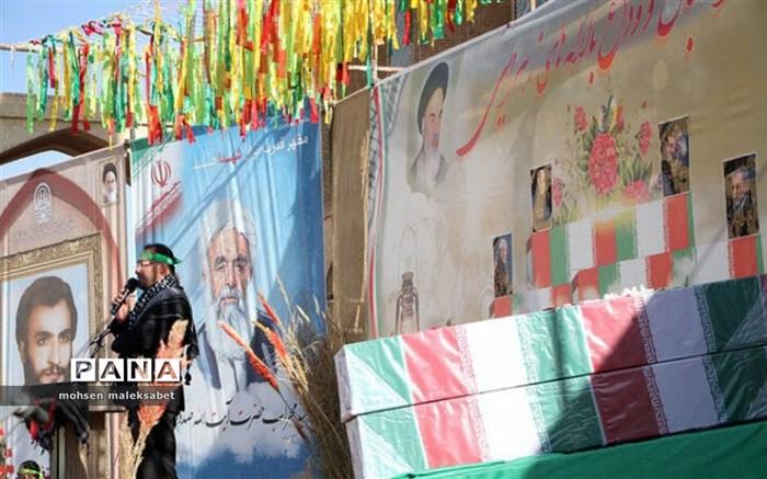 آسمان استان یزد با تشییع پیکر مطهر 2 شهید گمنام معطر شد