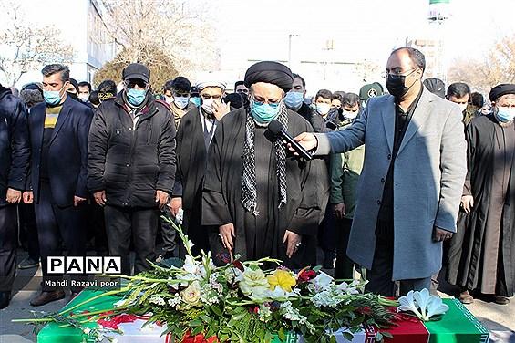 تدفین شهید گمنام در تبریز